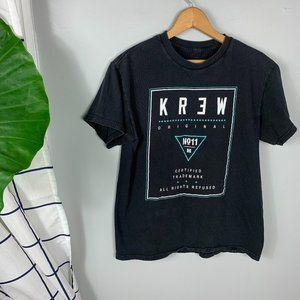Kr3w T-Shirt Short Sleeves Crew-Neck Black Size M